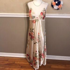 Oscar de la Renta Pink Label floral satin gown